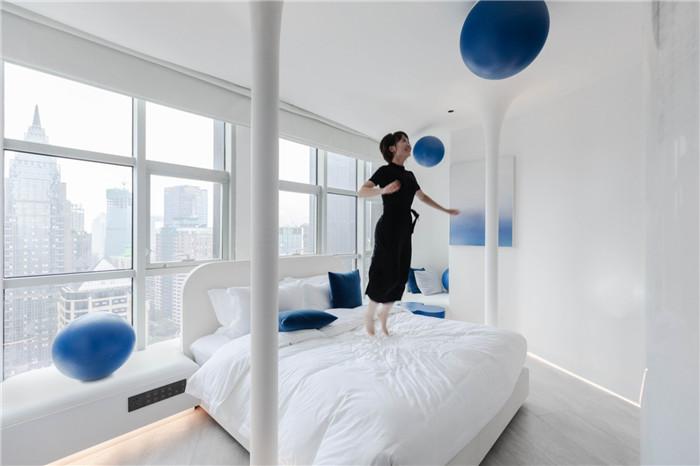 网红酒店客房设计图-以水为灵感的都市网红精品酒店设计方案