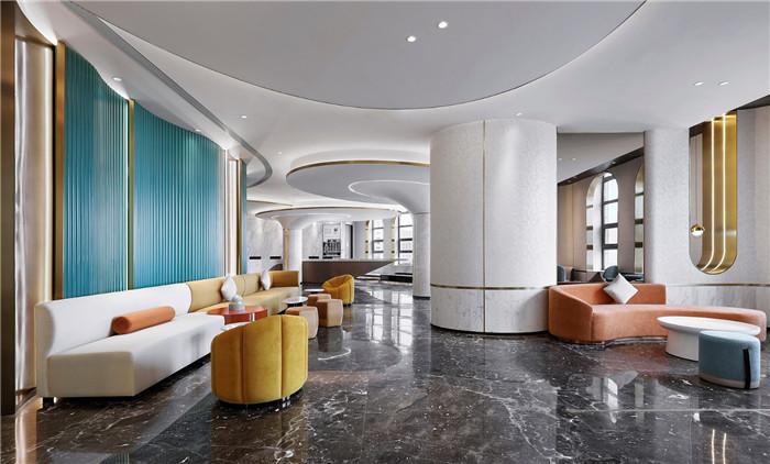 酒店大厅休闲区设计-以山与海为主题的酒店大堂公区&餐厅改造设计方案