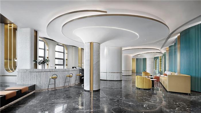 酒店大堂吧设计-以山与海为主题的酒店大堂公区&餐厅改造设计方案
