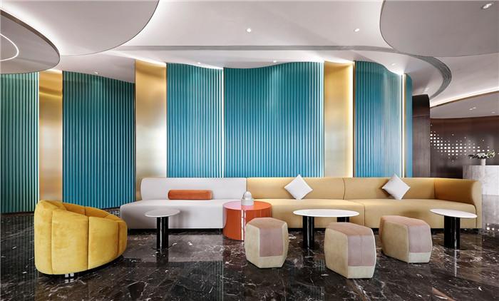 休闲区装修设计-以山与海为主题的酒店大堂公区&餐厅改造设计方案