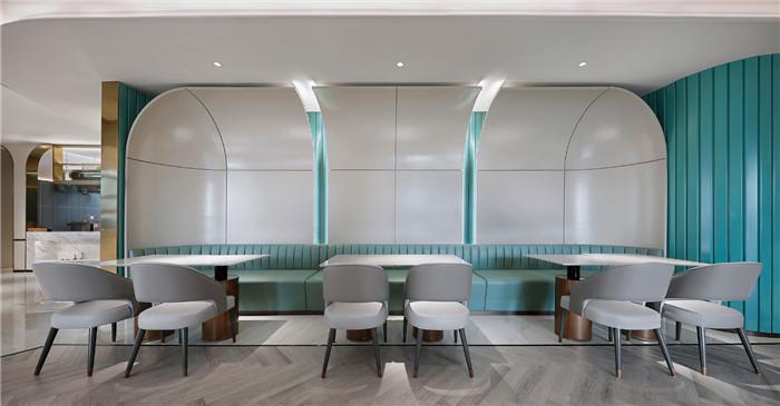 餐厅卡座区设计-以山与海为主题的酒店大堂公区&餐厅改造设计方案