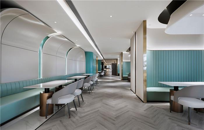 餐厅装修设计-以山与海为主题的酒店大堂公区&餐厅改造设计方案