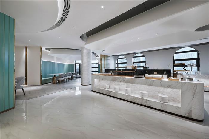 自助餐台设计-以山与海为主题的酒店大堂公区&餐厅改造设计方案