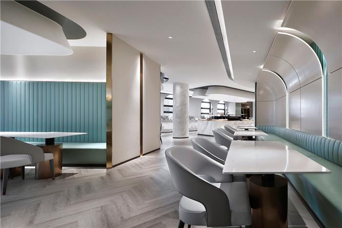 以山与海为主题的酒店大堂公区&餐厅改造设计方案