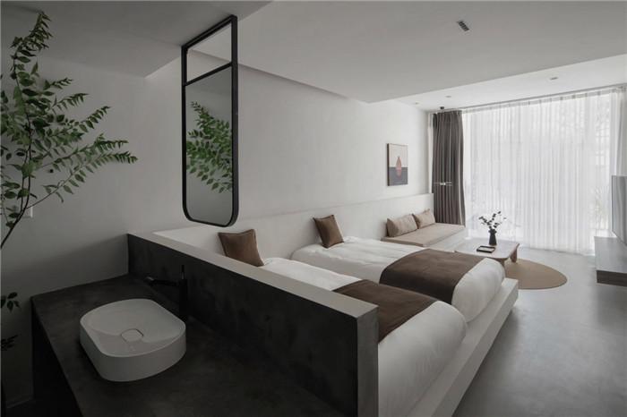 民宿标准客房设计-极简质朴的民宿酒店设计  只有8间客房也美呆了!