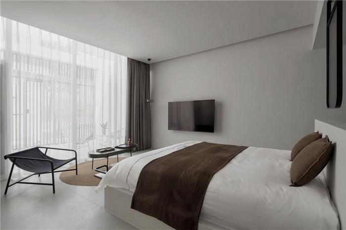 民宿大床房设计-极简质朴的民宿酒店设计  只有8间客房也美呆了!