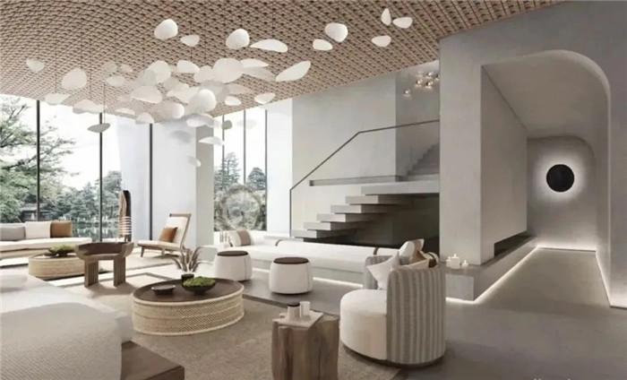 大堂吧设计-云南3000平度假酒店翻新改造设计案例  邂逅简约之美