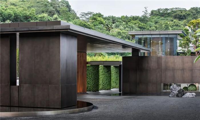 酒店入口设计-深圳大梅沙临海精品酒店设计   回归自然人文之美