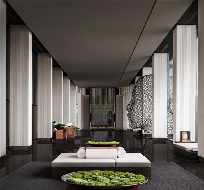 酒店大堂设计-深圳大梅沙临海精品酒店设计   回归自然人文之美