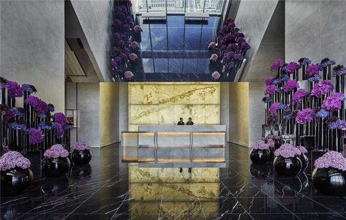 酒店大堂设计-勃朗设计分享摩登都市风美国费城四季酒店设计