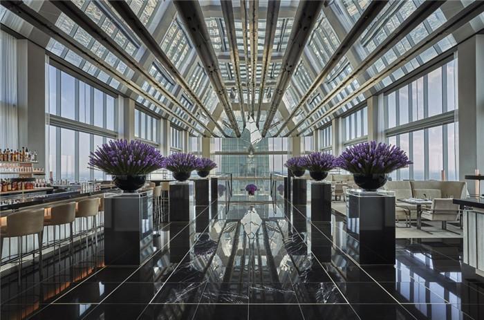 酒店大堂吧设计-勃朗设计分享摩登都市风美国费城四季酒店设计