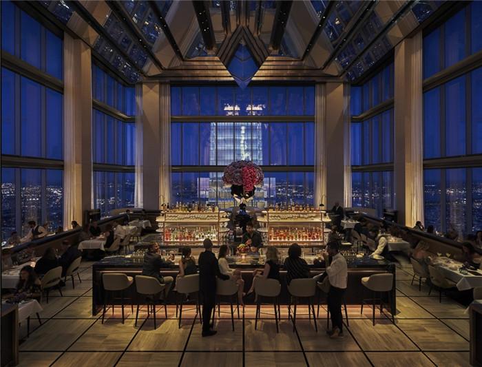 酒店餐厅设计-勃朗设计分享摩登都市风美国费城四季酒店设计