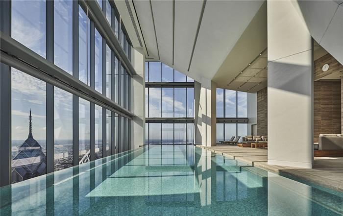 酒店泳池设计-勃朗设计分享摩登都市风美国费城四季酒店设计