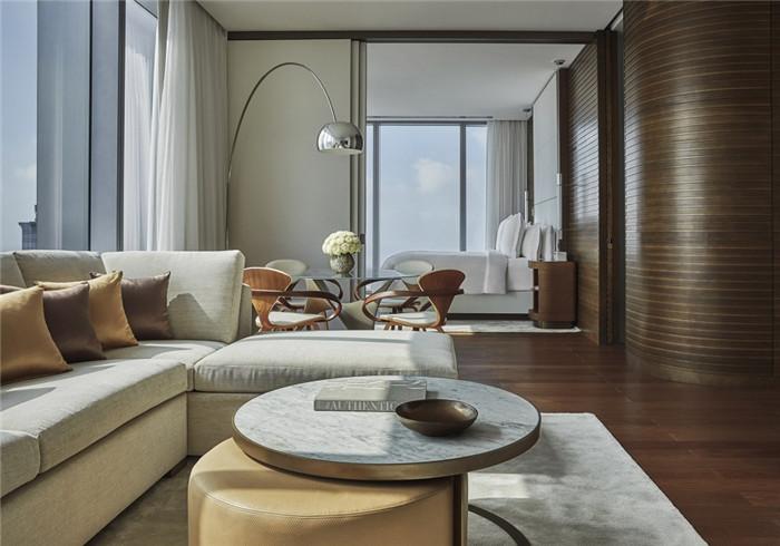 酒店客房设计-勃朗设计分享摩登都市风美国费城四季酒店设计