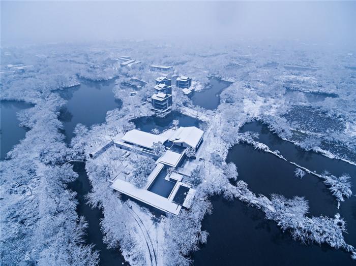 将西溪湿地美态融入室内的杭州木守度假酒店设计