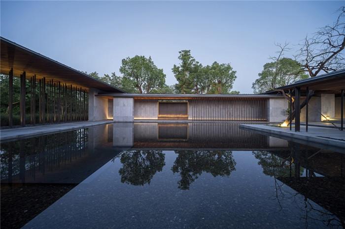 将西溪湿地美态融入室内的杭州木守度假酒店水景设计
