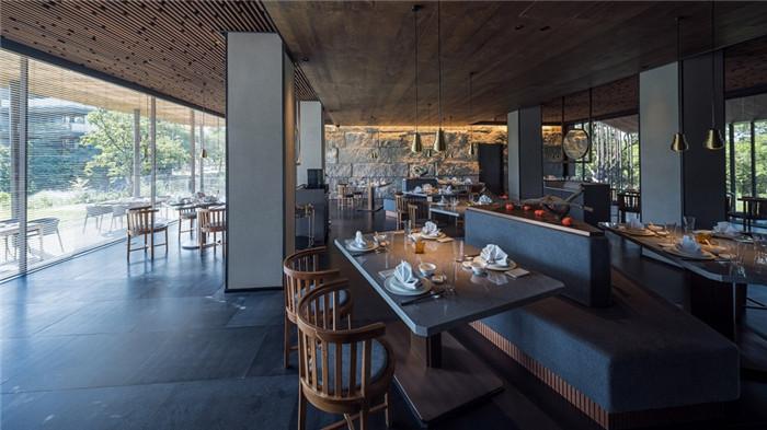 将西溪湿地美态融入室内的杭州木守度假酒店餐厅设计