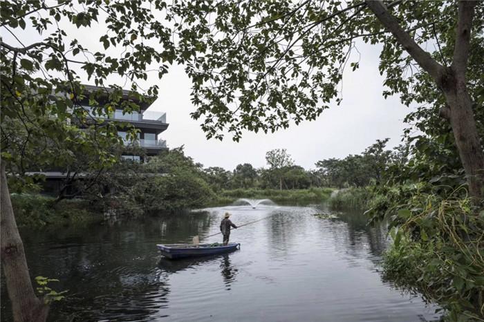 将西溪湿地美态融入室内的杭州木守度假酒店景观设计
