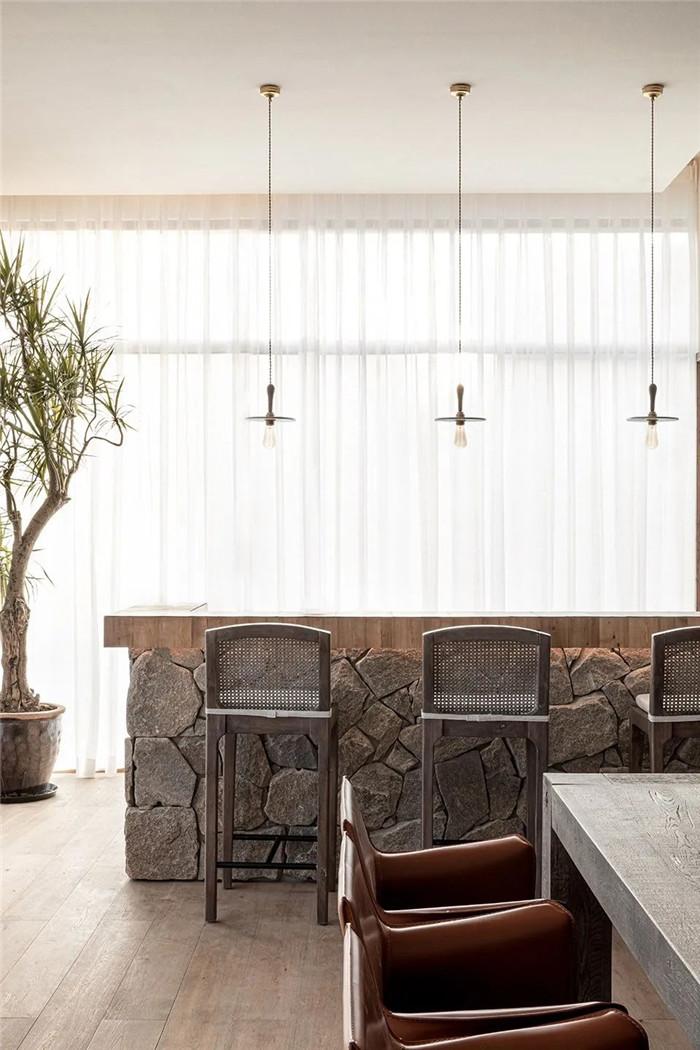 民宿酒吧设计-回归山野的纯白极简风精品民宿装修设计方案