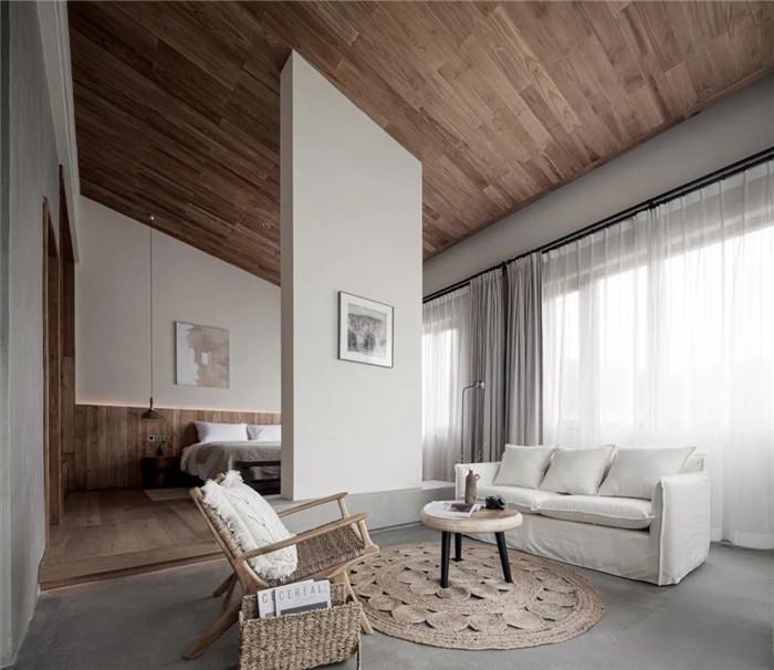 民宿套房设计-回归山野的纯白极简风精品民宿装修设计方案
