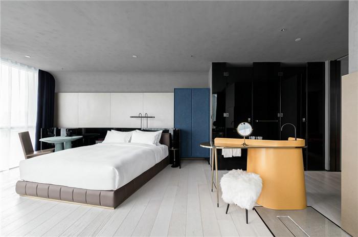 国内最新潮艺术精品酒店设计推荐:尚美水晶酒店大床房设计