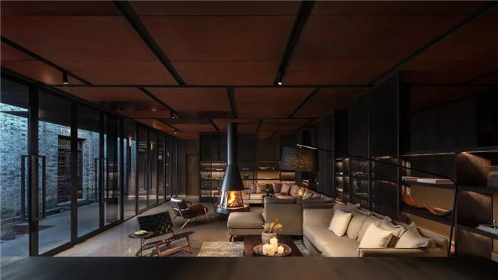 酒店大堂休闲区设计-集书店、咖啡、美术馆于一体的精品酒店设计方案