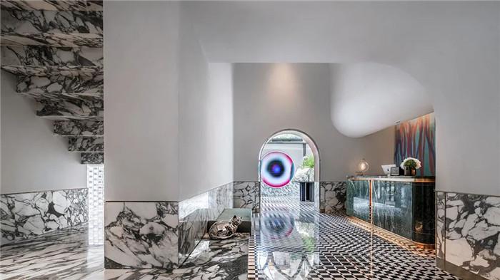 酒店大堂接待区设计-Art Deco复古怀旧风音乐主题精品酒店设计案例