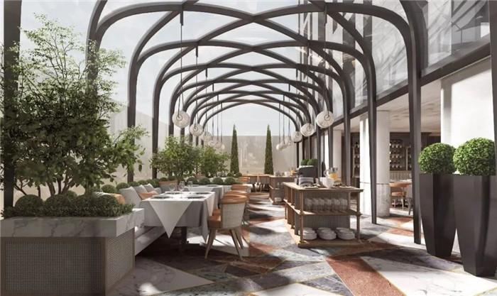酒店餐厅设计-Art Deco复古怀旧风音乐主题精品酒店设计案例