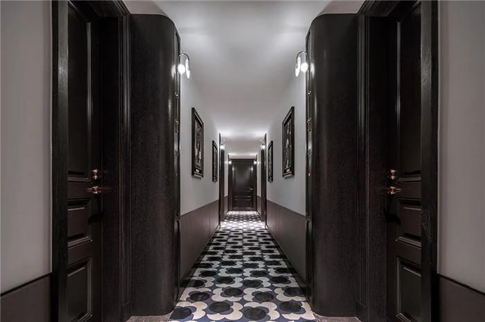 酒店客房走廊设计-Art Deco复古怀旧风音乐主题精品酒店设计案例