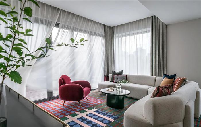 酒店套房客厅设计-Art Deco复古怀旧风音乐主题精品酒店设计案例