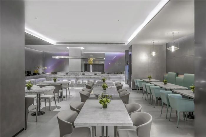 酒店自助早餐厅设计-经久不衰的现代简约风CRYSTAL ORANGE酒店设计