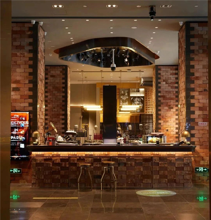 酒店大堂吧设计-复古与新潮混搭风武汉网红精品酒店改造设计案例