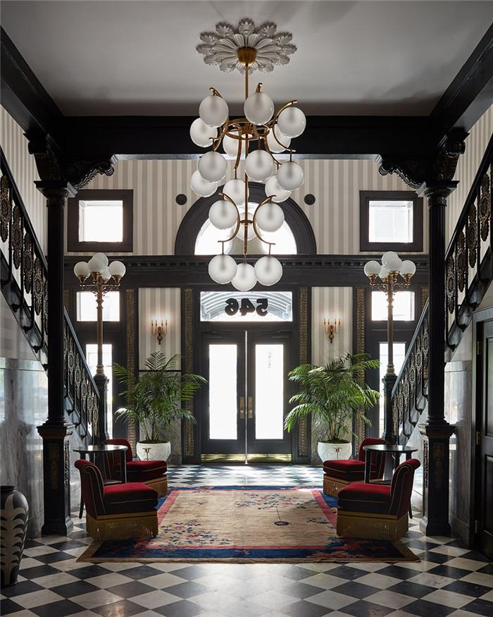 酒店大堂设计-历史修复   国外豪华复古风精品酒店改造设计方案