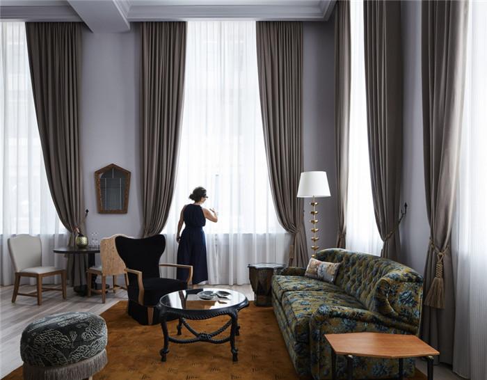 酒店客房设计-历史修复   国外豪华复古风精品酒店改造设计方案