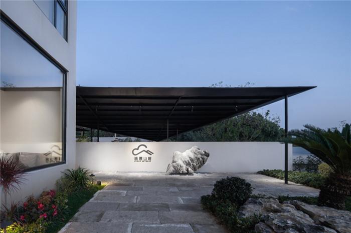 民宿入口设计-现代禅意山水   很成功的酒店民宿改造设计案例推荐