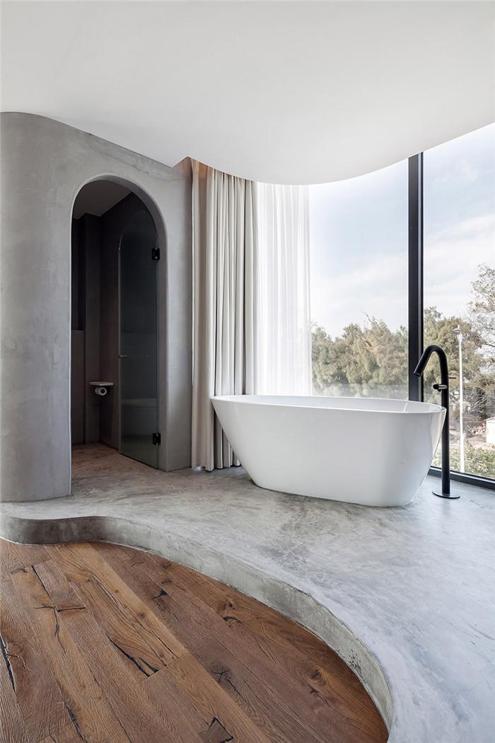 民宿浴室设计-将海景尽收眼底的湄洲岛特色民宿改造设计方案