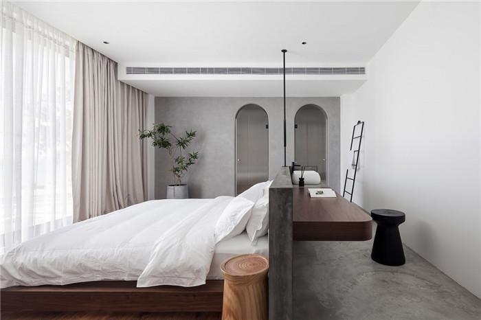 民宿大床房设计-将海景尽收眼底的湄洲岛特色民宿改造设计方案