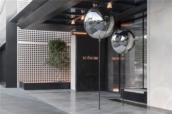 酒店入口设计-颠覆传统的精品酒店设计推荐:ICON HOTEL酒店设计方案