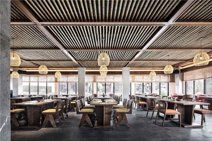 素食餐厅设计-以当地人文为主题的九华山禅居度假酒店设计方案