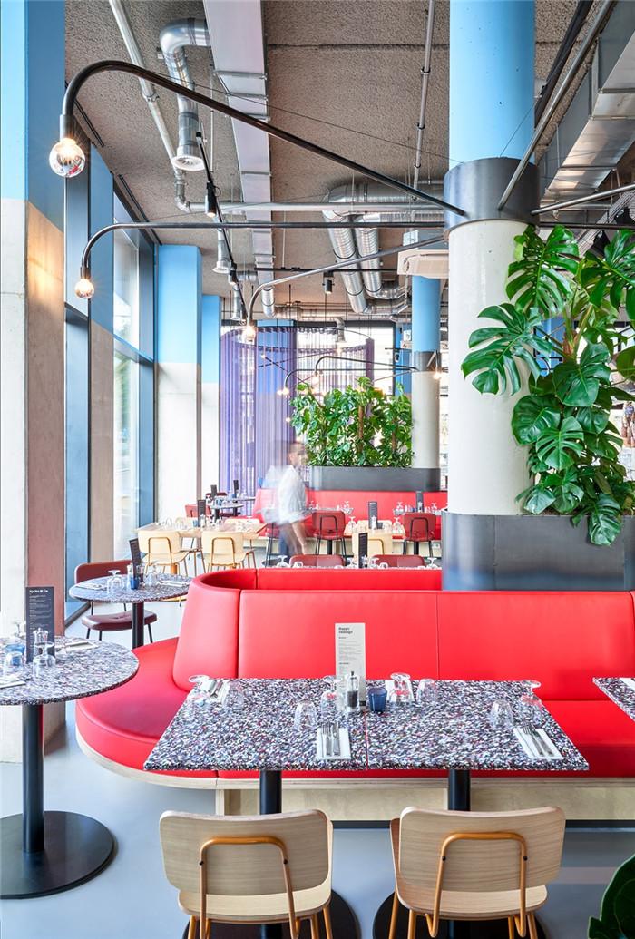 酒店餐厅设计-贯彻循环环保设计的国外学子社区酒店设计方案