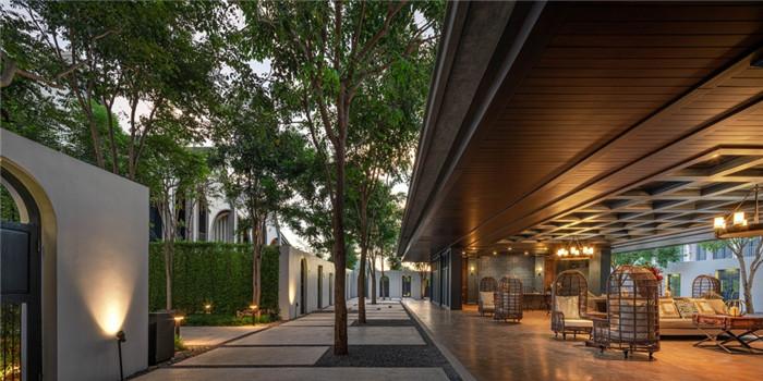 酒店接待大厅设计-沉浸在奇妙自然中的仙境森林主题度假酒店设计案例