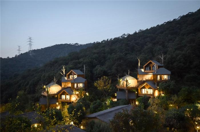 树屋酒店灯光亮化设计