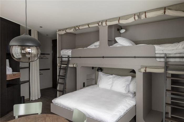 多人客房设计-可持续理念下的滑雪场原生态度假酒店设计案例