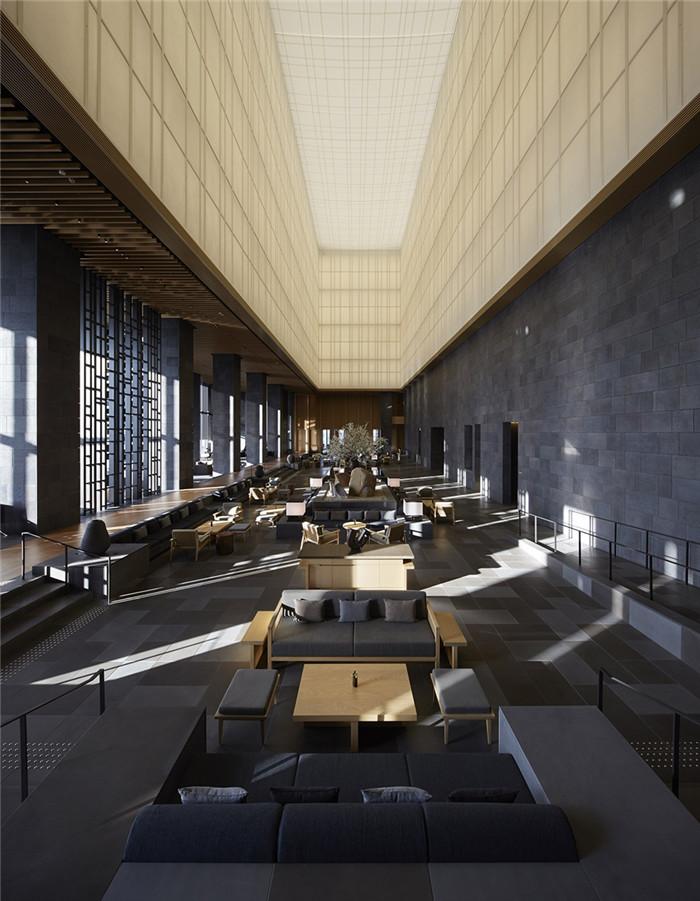 大堂吧设计-专为休闲和商务游客而定制的东京安缦度假酒店设计