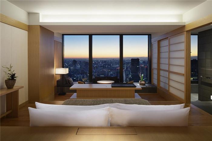 客房设计-专为休闲和商务游客而定制的东京安缦度假酒店设计