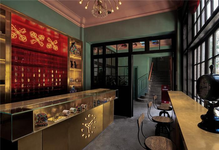 酒店大堂设计-杭州ARTDECO复古风精品酒店改造设计方案