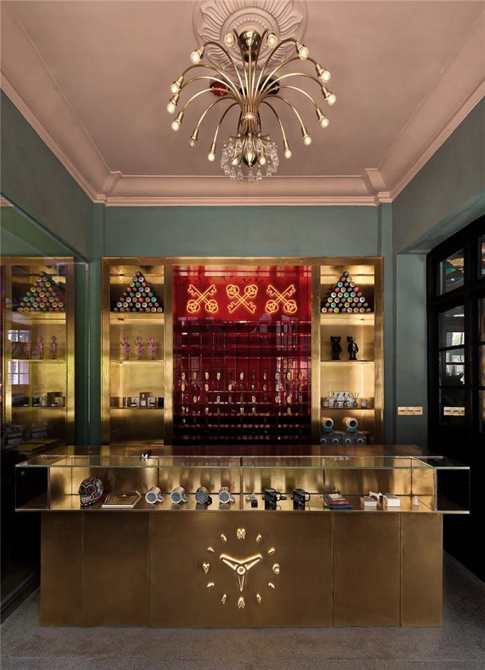 酒店大厅接待台设计-杭州ARTDECO复古风精品酒店改造设计方案