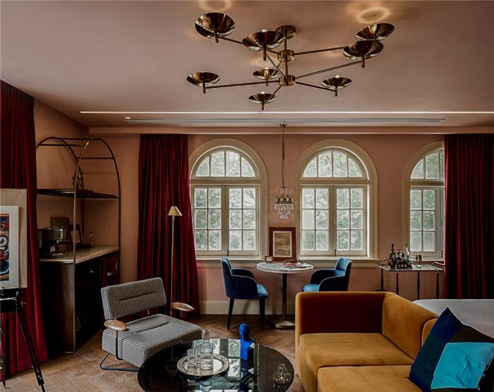 酒店餐厅设计-杭州ARTDECO复古风精品酒店改造设计方案