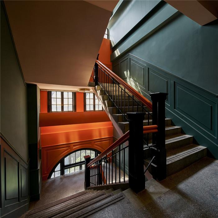 酒店楼梯设计-杭州ARTDECO复古风精品酒店改造设计方案