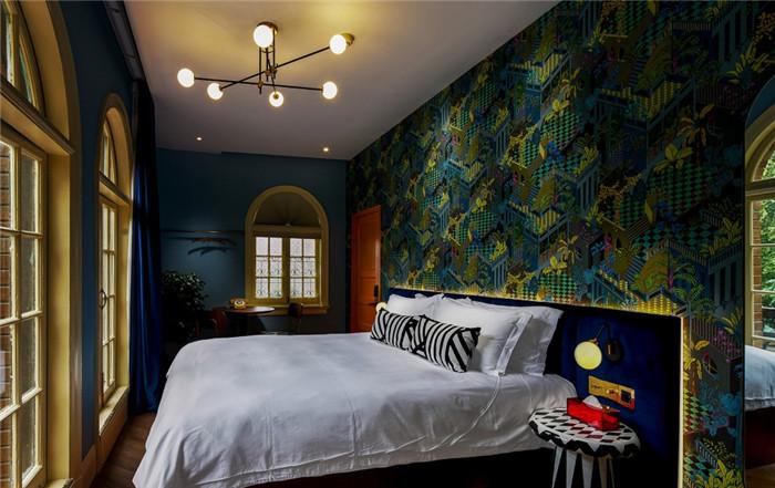 酒店客房设计-杭州ARTDECO复古风精品酒店改造设计方案